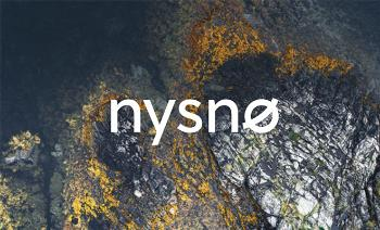 water, rocks, Nysnø logo