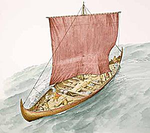 skip fra vikingtiden