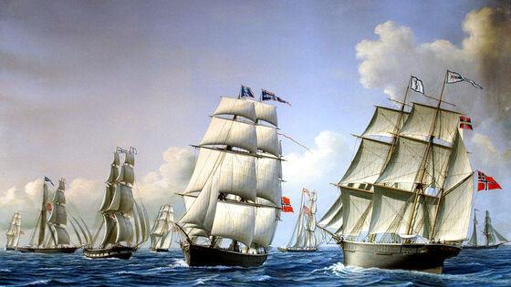 Norske handelsskip på 1800-tallet