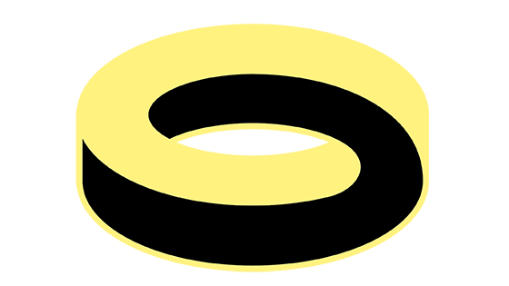 Swirl in yellow and black. Logo.