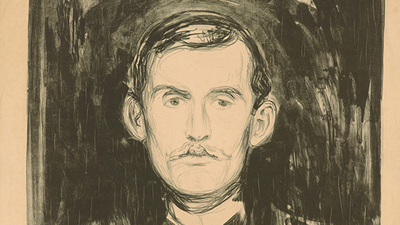 Self-portrait Edvard Munch