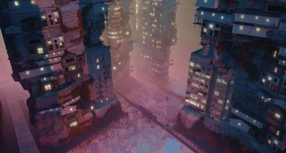 Image may contain: Building, Atmosphere, World, Purple, Skyscraper.
