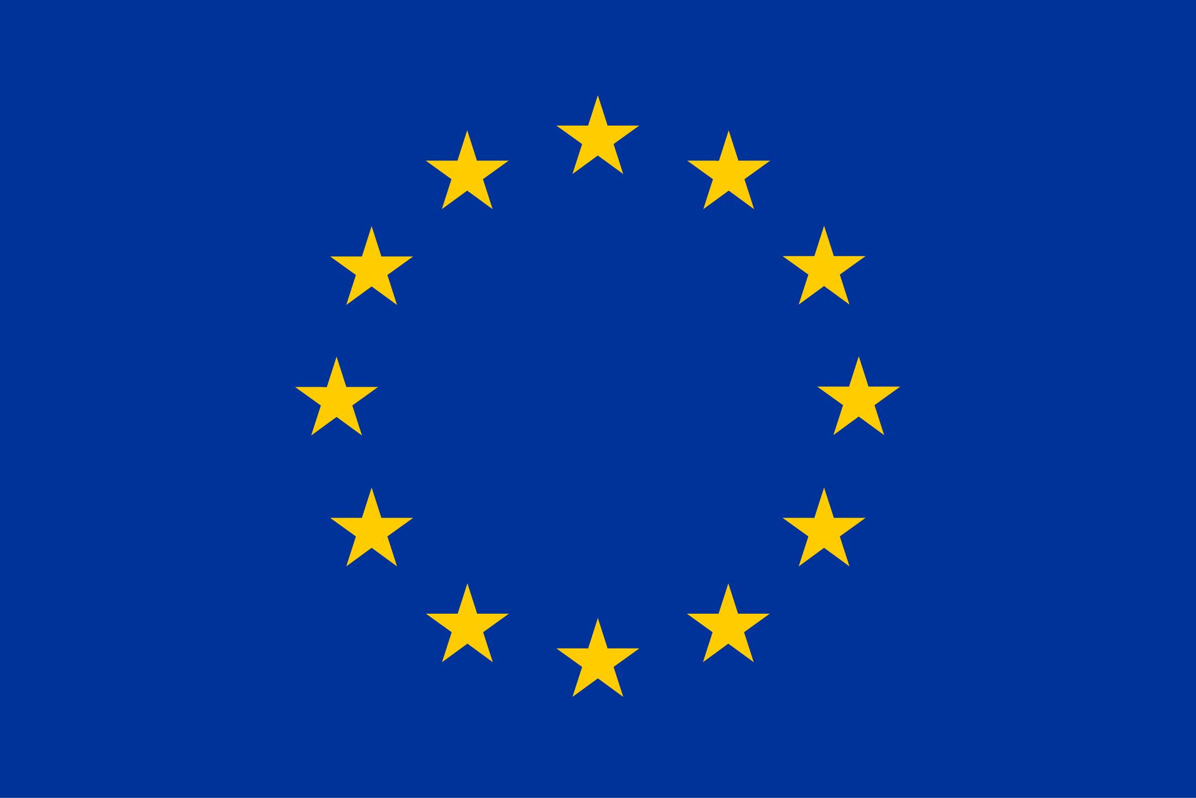 EU-flag. Stars in a circle on a blue background.
