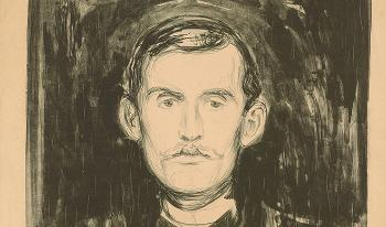 Self portrait of Edvard Munch.