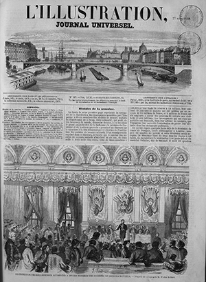 First page of the newspaper ILLUSTRATION, journel universel.
