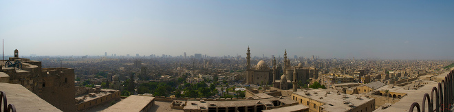 Citadel of Cairo view of the City of Cairo.