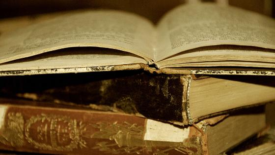 Old books. Photo.