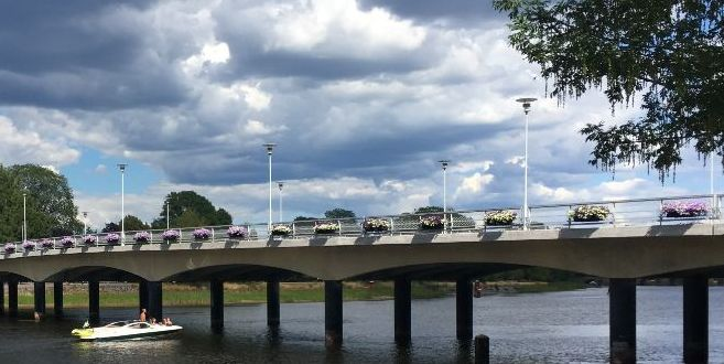Photo of Tingvalla bridge in Karlstad.