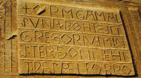 Letter inscriptions.