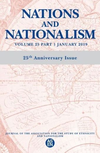 The cover of: Nations and Nationalism, vol 25, pt. 1, January 2019