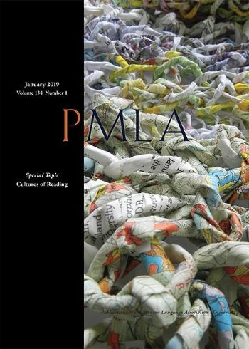 Cover of the journal PMLA vol. 134 (1) January 2019