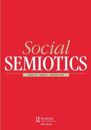 "The cover of the journal ""Social Semiotics""."