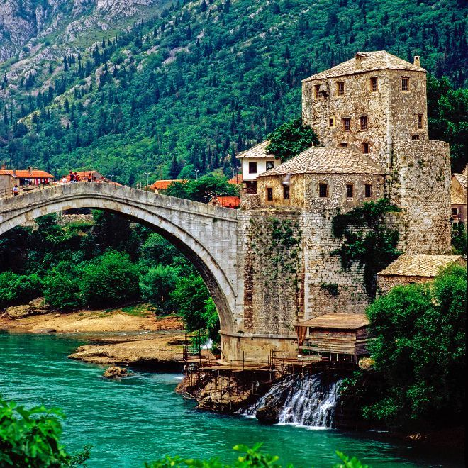 The old bridge at Mostar, Bosnia and Herzegovina. Illustration: Colourbox