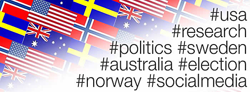 Many different flags Autralia, Norway, Swedan and other countries. Hastags usa, research, politics, norway and others. Illustration.