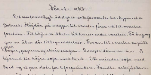 A photo of Ibsen's handwriting.