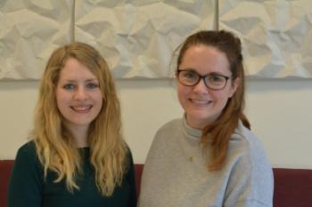 Jorunn Simonsen Thingnes (left) and Kristin Myklestu are new MultiLing research assistants