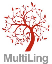 MultiLing logo: a red tree