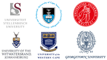The logos of all the universities in the intpart project