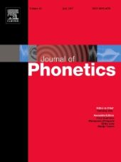Journal of Phonetics front page