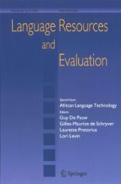 Language Resources and Evaluation front page
