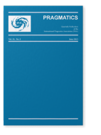 Pragmatics: Quarterly Publication of the International Pragmatics Association front page
