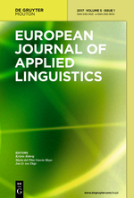 European Journal of Applied Linguistics front page