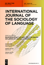International Journal of the Sociology of Language front page