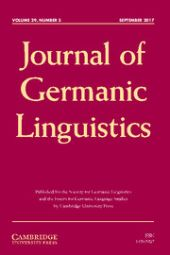 Journal of Germanic Linguistics front page
