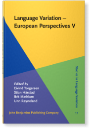 Language Variation – European Perspectives V. Selected Papers from the Seventh International Conference on Language Variation in Europe (ICLaVE 7), Trondheim, June 2013 front page