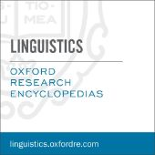Oxford Research Encyclopedia of Linguistics logo