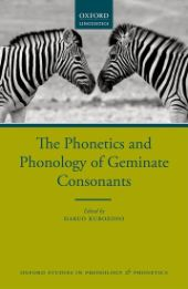 The Phonetics and Phonology of Geminate Consonants front page