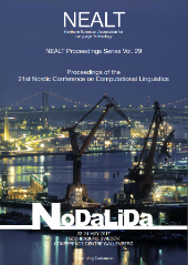 Proceedings of the 21st Nordic Conference on Computational Linguistics (NoDaLiDa) front page
