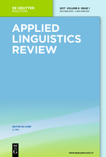 Applied Linguistics Review front page