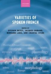Varieties of Spoken French front page