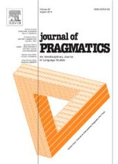 Journal of Pragmatics front page