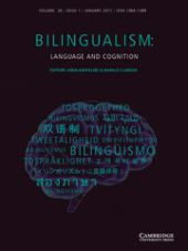 Bilingualism: Language and Cognition front page