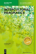 Intercultural Pragmatics front page