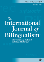 International Journal of Bilingualism front page