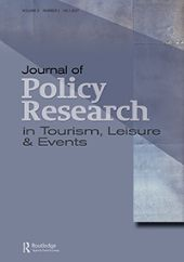 Journal of Policy Research in Tourism, Leisure and Events front page