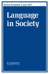 Language in Society front page