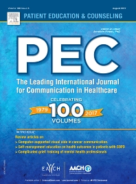 Patient Education and Counseling front page