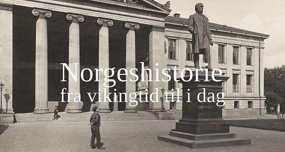 Logobilde Norgeshistorie - fra vikingtid til i dag