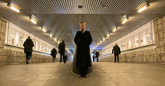 Foto av Kristin Bech på Jernbanetorget T-banestasjon